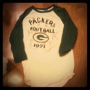 Women's Junk Food Green Bay Packers Raglan Shirt
